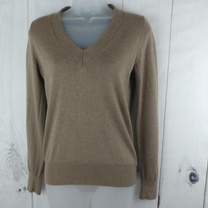 Eddie Bauer Womens V Neck Cotton Cashmere Pullover